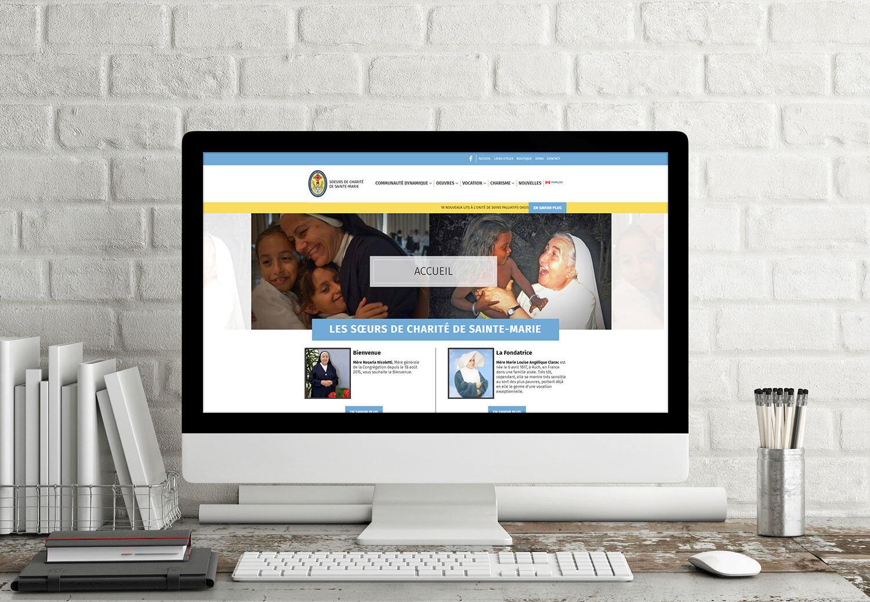 Aperçu du site web de Marie-Clarac