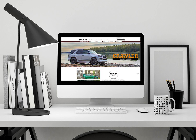 Aperçu du site web de RTX Wheels