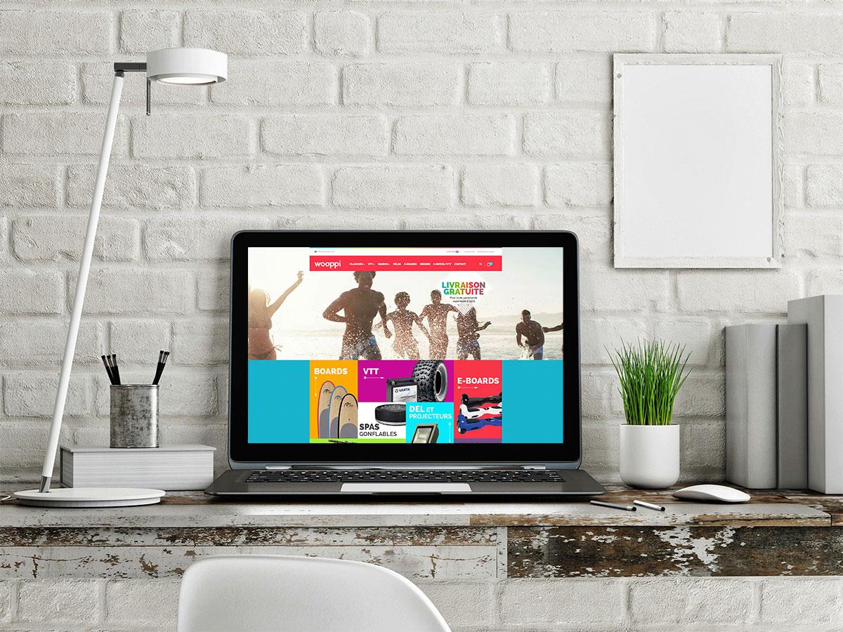 Aperçu du site web de Woopi