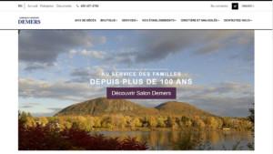Site web du Salon Demers, complexe funéraire sur la Rive-Sud de Montréal