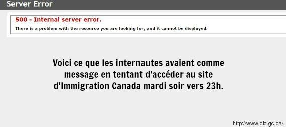 erreur-site-immigration-canada-capture
