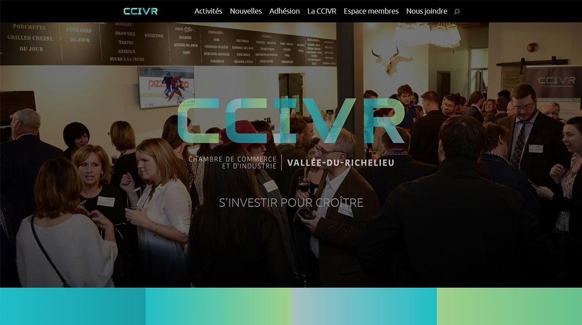 Un nouveau site Web pour la CCIVR, signé Agence B-367!
