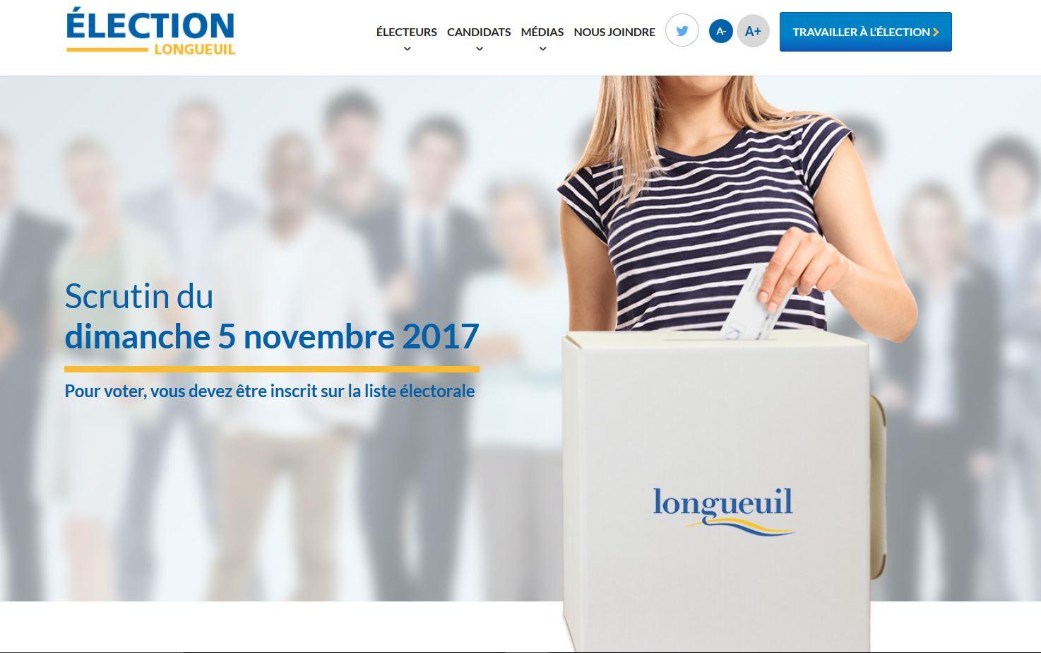 Un succès sur toute la ligne pour le site Internet d'Élection Longueuil
