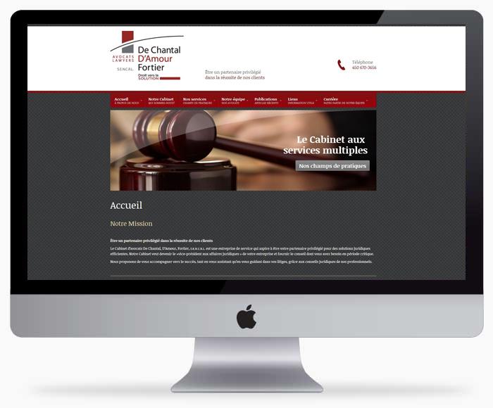 Conception de site web Longueuil pour DCDAF