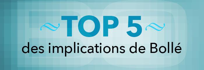 Le Top 5 des implications 2013 de Bollé