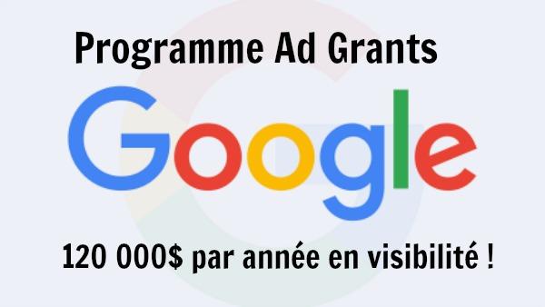 Connaissez vous le programme Ad Grants ?