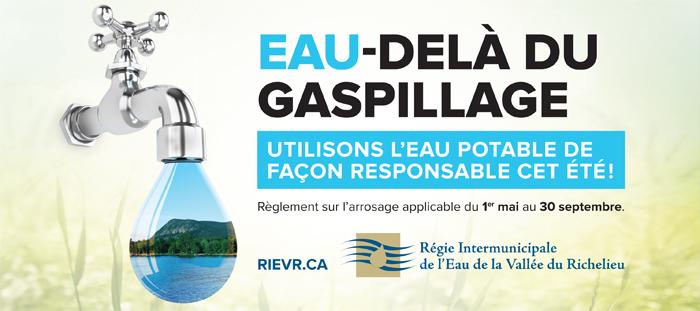Campagne de sensibilisation pour la Régie Intermunicipale de l'Eau de la Vallée du Richelieu