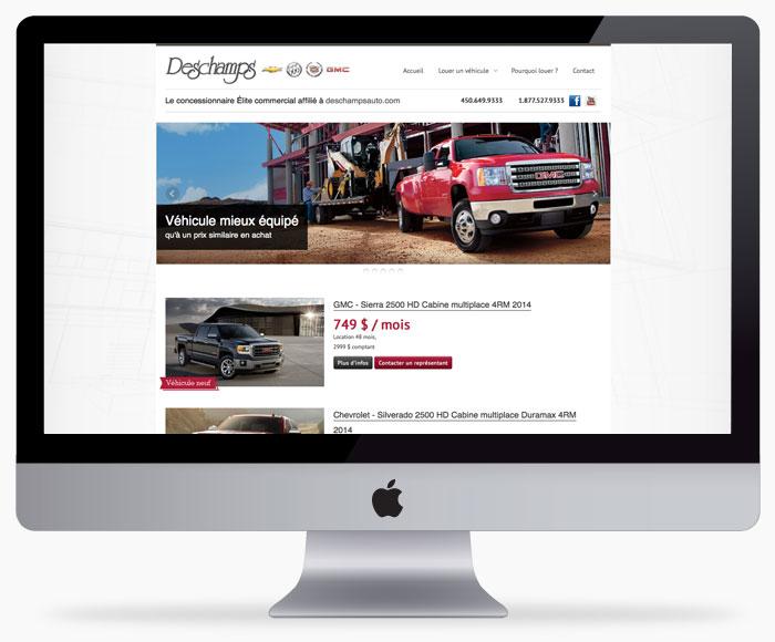 locationdeschamps.com, une conception de site web à Ste-Julie signée Bollé Communications
