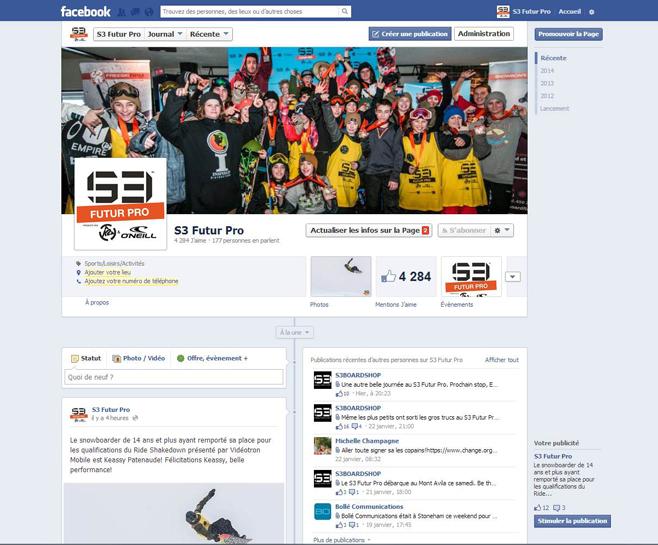 Animation de page Facebook pour le S3 Futur Pro
